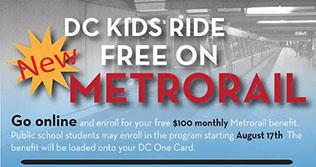 DC Kids Ride Free on Rail Program
