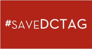 Banner with the words Save DCTAG