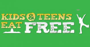 Kids and Teens Eat Free Graphic