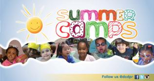 Kids and the words Summer Camp