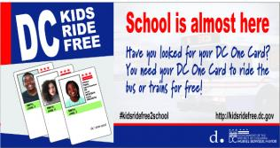 Have you looked for your DC One Card. You need your DC One Card to ride the trains for free!