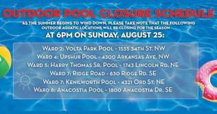 Outdoor Pool Closure Schedule