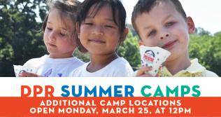 DPR Summer Camp: Additional Locations Open Monday, March 25 at 12 pm
