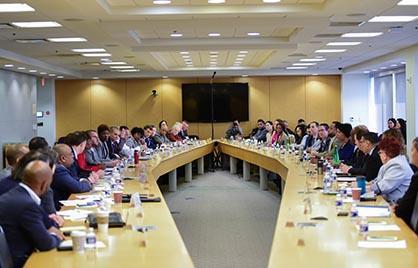 Mayor Bowser leads a coronavirus preparedness meeting