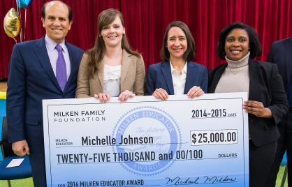 Michelle Johnson is DC's 2014–15 Milken Educator