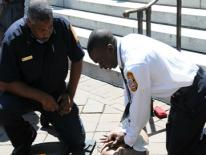 EMTs practicing CPR