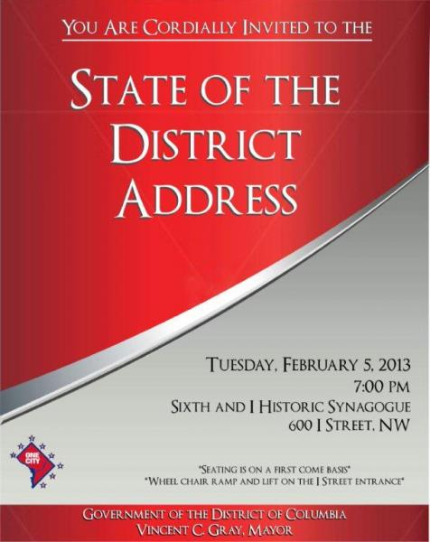 State of the District Invitation